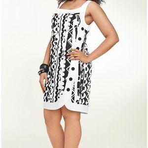 New Isabel Toledo Sateen Shift Dress.
